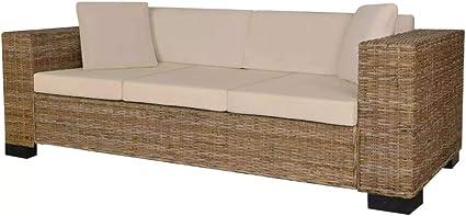 vidaxl ensemble de canape a 3 places 8 pcs rotin meuble de salon bureau