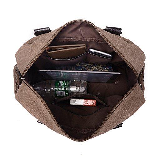 Frauen Jahrgang Leinwand Schulter Ipad Messenger Handtasche Schule Outdoor Tasche ,A-OneSize