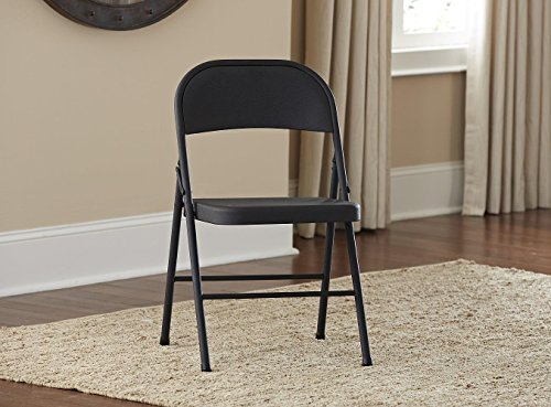 Cosco All Steel 4 Pack Folding Chair Black Import It All
