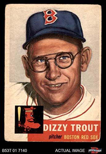 - 1953 Topps # 169 Dizzy Trout Boston Red Sox (Baseball Card) Dean's Cards 1.5 - FAIR Red Sox