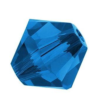 092774c1b Amazon.com: 100pcs 3mm Adabele Austrian Bicone Crystal Beads Capri Blue  Compatible with Swarovski Crystals Preciosa 5301/5328 SSB325: Everything  Else