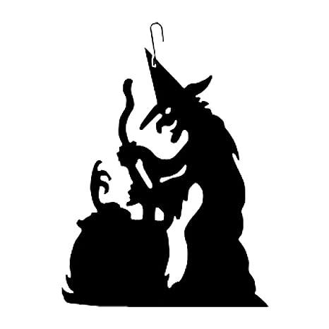 amazon com hos 235 witch cauldron decorative hanging silhouette