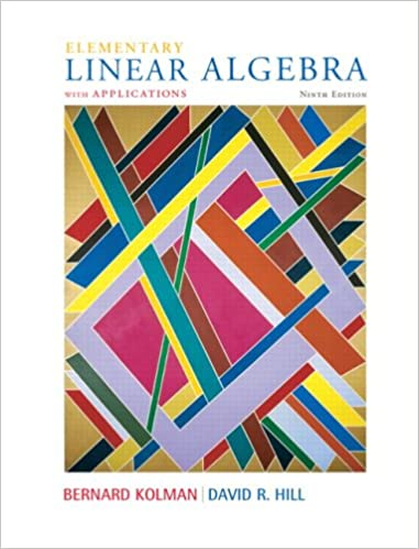 Student solutions manual to accompany elementary linear algebra.