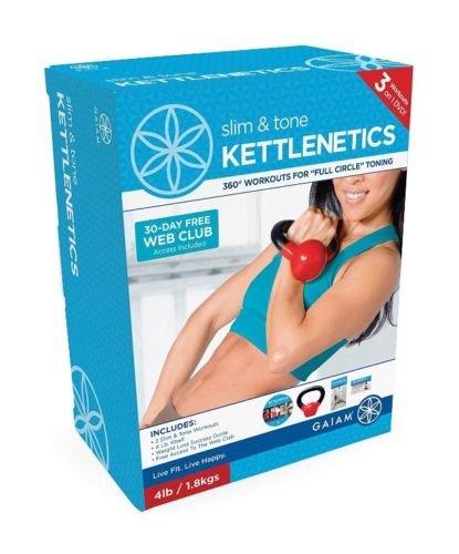 Gaiam Kettlenetics, 4 DVD Set (kb elements, flowMotion ba...