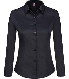 869d776d795 Allegra K Women s Button Down Long Sleeves Slim Fit Casual Work ...