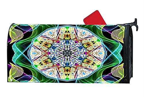 (Shabbat Shalom Mandala Seasonal Customized Mailbox Cover Magnetic For Metal/Steel Mailboxes Mail Wrap Standard Vinyl 6.5 x 19 Inches)