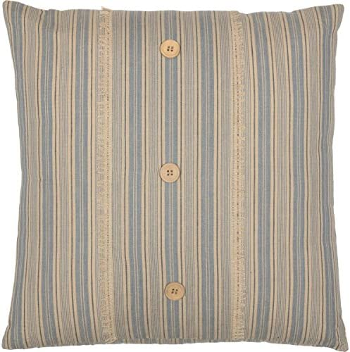 VHC Brands Boho Eclectic Farmhouse Pillows Throws-Joanna Blue Fabric 18 x 18 39464