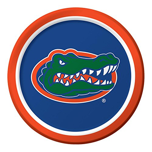 Plate University Christmas (Club Pack of 96 NCAA University of Florida Disposable Paper Party Dinner Plates 9