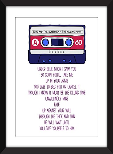 Echo and the Bunnymen The Killing Moon Lyrics Unframed Print (Killing Moon The Best Of Echo The Bunnymen)