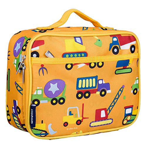 2013 Approach Pack (Wildkin Lunch Box, Insulated, Moisture Resistant, and Easy to Clean with Extras for Quick & Simple Organization, Ages 3+, Perfect for Kids or On-The-Go Parents, Olive Kids Design, Under Construction)