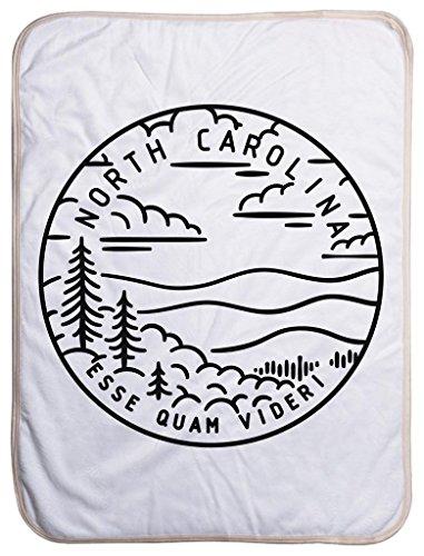 North Carolina State Design - Sherpa Baby Blanket (40
