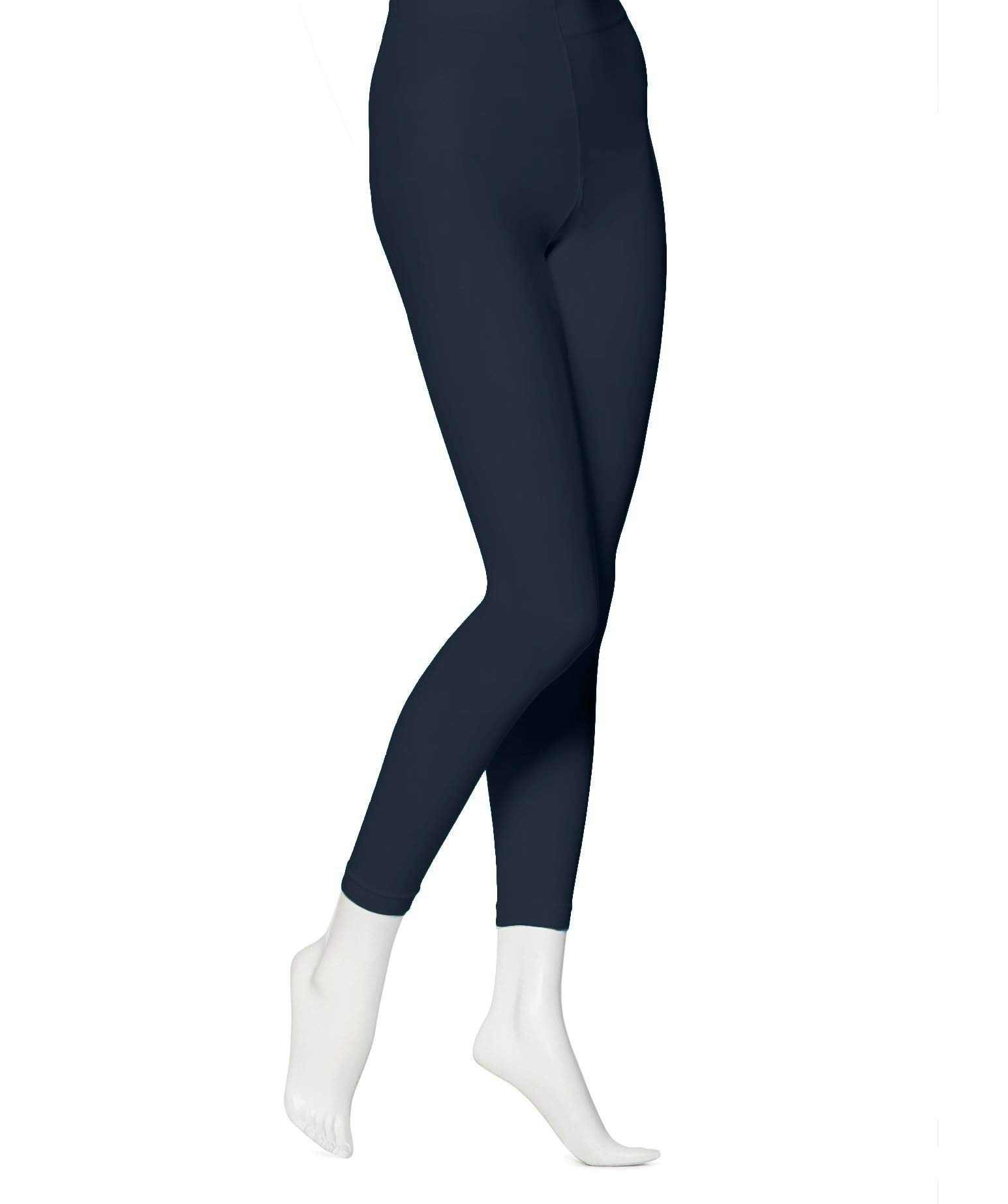 f7173d750193b EMEM Apparel Women's Solid Colored Opaque Microfiber Footless Tights  product image