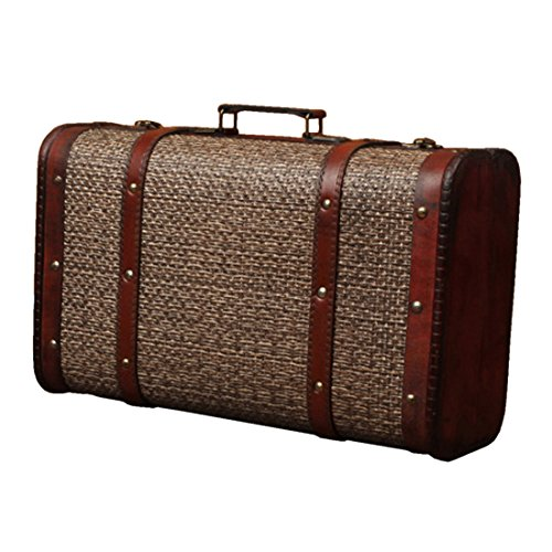 Partiss Vintage Suitcase (One Size, Rattan) (Rattan Suitcase)