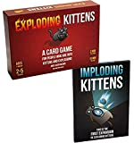Bundle Includes 2 Items - Exploding Kittens: A Card Game About Kittens and Explosions and Sometimes Goats and Imploding Kittens: This is the First Expansion of Exploding Kittens