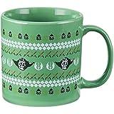 Vandor 99961 Star Wars Ugly Sweater 20 Ounce Ceramic Mug, Green