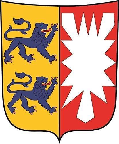 U24 Aufkleber Schleswig Holstein Wappen Autoaufkleber Sticker Konturschnitt Auto