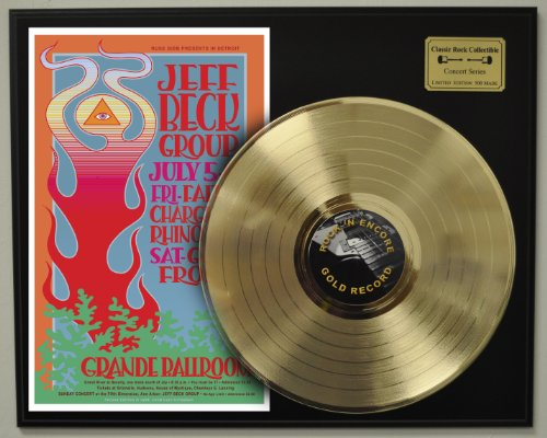 Jeff Beck Limited Edition Gold LP Record Display. Only 500 made. Limited quanities. FREE US SHIPPING Jeff Gold Graphics