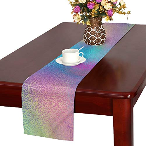 Jnseff Texture Pattern Colorful Splash Table Runner, Kitchen Dining Table Runner 16 X 72 Inch For Dinner Parties, Events, -