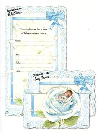 Amazon 100 tri fold baby shower invitations in spanish baby 100 tri fold baby shower invitations in spanish baby boy 525quot filmwisefo