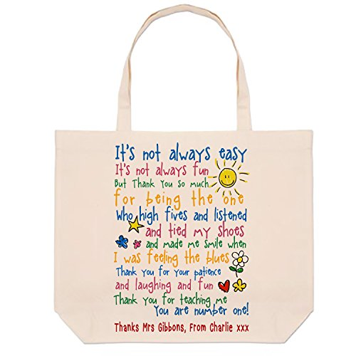 Tote Thank It's Teacher Term Bag gift always Appreciation Gift not Teacher Gift Thank Teacher Shopping tote you bag easy Cotton End HirosPersonalised you of zAqPdfnwz