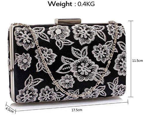 Bag Women For Clutch Black With New Lace Unique Shoulder Box Design Design Evening Chain 1 Elegant Ladies Handbag 5tqSR1