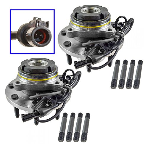 (Front Wheel Hub & Bearing LH & RH Pair Set for Ford F250 F350 Excursion 4x4)