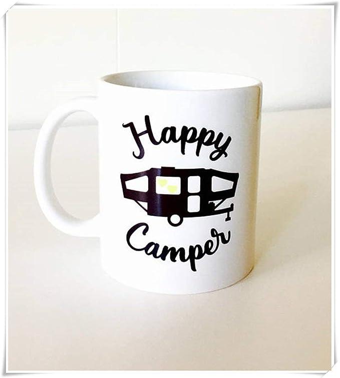 Hshbgiu Happy Camper Mug   Pop Up Camper Mug   Camping Mugs ...