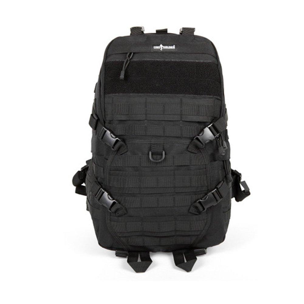 YAAGLE Outdoor militärisch Reisetasche Schultertasche Trekkingrucksack Camping Taschen Rucksack Wandernrucksack-schwarz