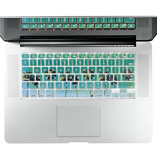 Litop® Thin Green Beach with Coconut Tree Series Silicone Keyboard Cover Keyboard Skin for All Macbook Air 13