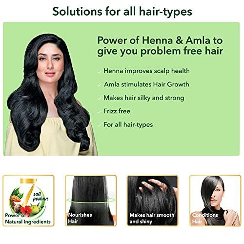 Dabur Vatika Health Shampoo, With Henna & Amla For Problem Free Hair, 1L