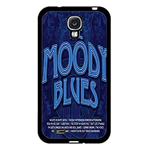 Samsung Galaxy S4 I9500 Case Shell Unique Blue Printed Design Pop Jazz Band The Moody Blues Phone Case Cover for Samsung Galaxy S4 I9500