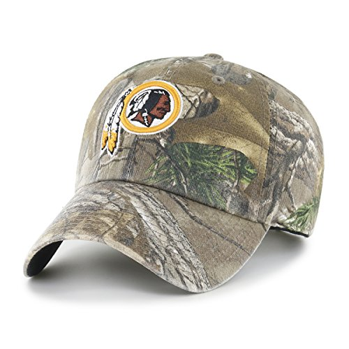 NFL Washington Redskins Realtree OTS Challenger Adjustable Hat, Realtree Camo, One (Washington Redskins Cap)