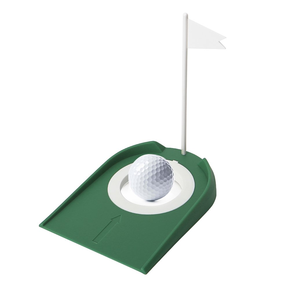 Embeau Golf Putting Cup, Golf Practice Putting Cup with Hole and Flag Green