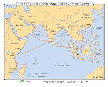 Universal Karte 30299 121 Handelsrouten Im Indischen Ozean 500 C