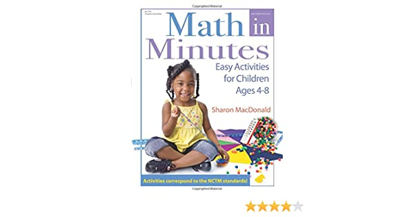 Amazon.com: Math in Minutes: Easy Activities for Children Ages 4-8 ...
