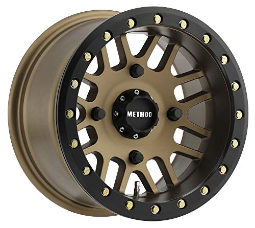"Method Race Wheels 406 UTV Beadlock Method Bronze With Matte Black Ring 14x8"" 4x156"", 2mm offset 4.3"" Backspace, MR40648046944B"
