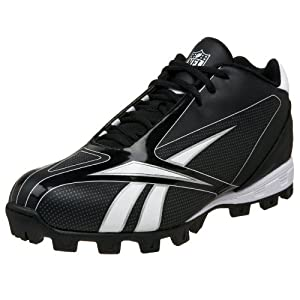Reebok Men's NFL Burner Speed III ATF Football Cleat,Black/White,13 M