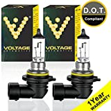 Voltage Automotive 9006 HB4 Standard Headlight Bulb (Pair) - OEM Replacement Halogen High Beam Low Beam Fog Lights Driving Lights