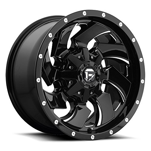 20x10.0 Fuel 1-Piece Wheels Cleaver Wheel -18mm CONICAL Lug Type 5x139.7 NBL-Gloss BLK NBL-Gloss BLK (1 Cleaver)