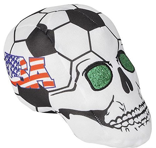 5.5'' USA SOCCER BALL SKULL HEADS, Case of 72 by DollarItemDirect