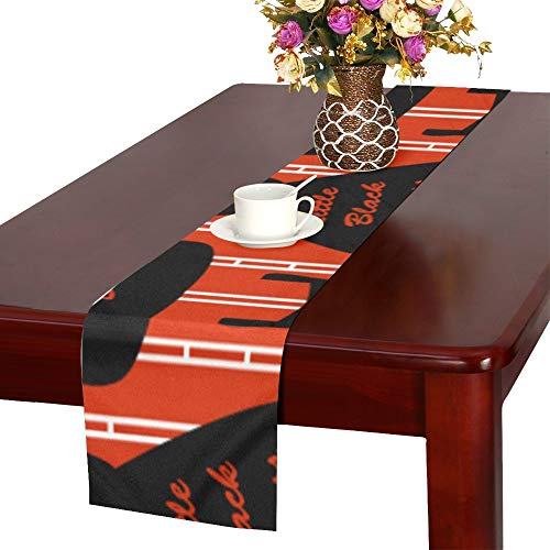 (WJJSXKA Little Black Dress Queen Design Table Runner, Kitchen Dining Table Runner 16 X 72 Inch for Dinner Parties, Events, Decor)
