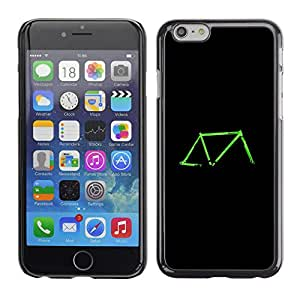 Paccase / SLIM PC / Aliminium Casa Carcasa Funda Case Cover - Bicycle Neon Green Black Retro Ride - Apple Iphone 6