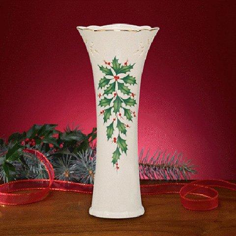 Lenox Holiday Pierced Bud Vase