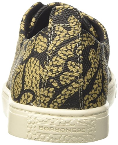 Borbonese 6dg903f59, Women's Low Trainers Green (Safari Cachemire/Ner N59)