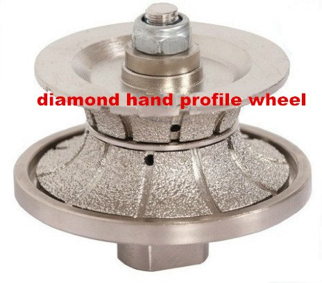 GOWE [75mm*40mm ] diamond Brazed hand profile shaping wheel ROUTER BIT FULL BULLNOSE 40mm 0
