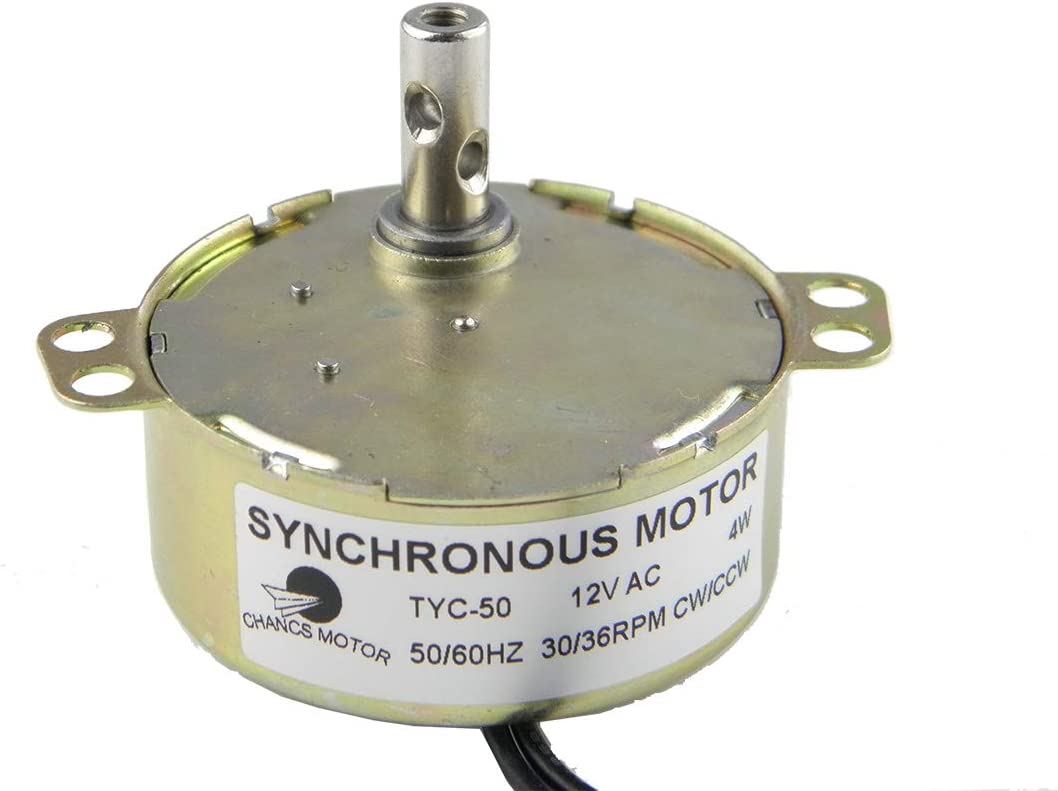 AC12V TYC-50 Electric  Synchronous Turntable Motor 4-5rpm Synchronous NEW