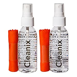 Two 2 Oz Glasses Cleaners With Two Microfiber Cloths For Eyeglass Cleaning And Lens Cleaning Kit - Very Easy To Use