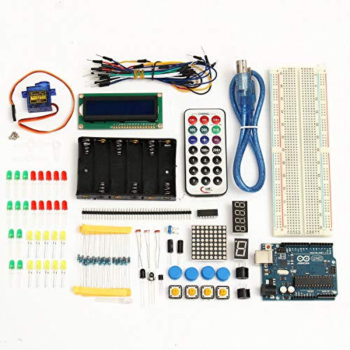 Basic Starter Learning Kit UNO R3 1602LCD Sensor Breadboard For - Arduino Compatible SCM & DIY Kits Arduino Compatible Kits & DIY Kits -