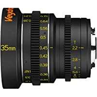 Veydra V1-35T22M43M Mini Prime 35mm T2.2 Metric Cinema Lens with Manual Focus, Black
