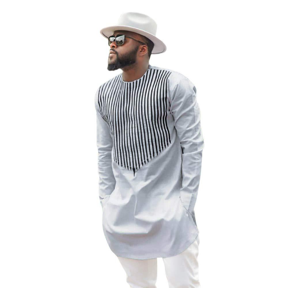 PLENTOP 2019 Men's Activewear, Mens T Shirts 3XL,Men's Autumn Winter Luxury African Print Long Sleeve Dashiki Shirt Top Blouse
